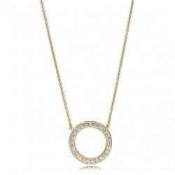 Collana Con Pendente A Forma Circolare Oro - Pandora