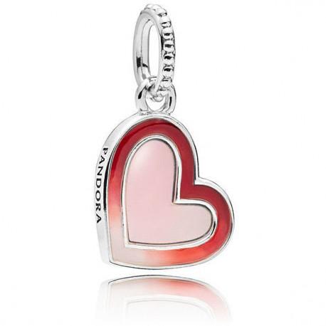 cuore pandora charm rosso