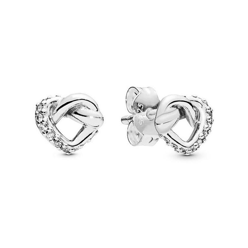Intertwining Love Stud Earrings - Pandora - Lord Gioielli