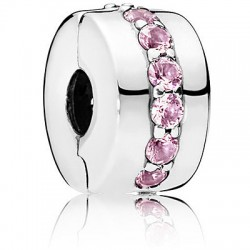 Charm Clip Sentiero Luminoso Rosa - Pandora
