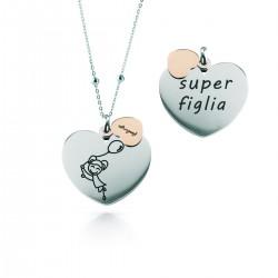 """Collana Donna """"Super Figlia"""" - Feelings"""