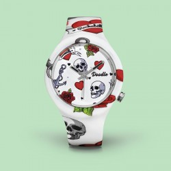 Orologio Skull Mood Solo Tempo - Doodle Watch