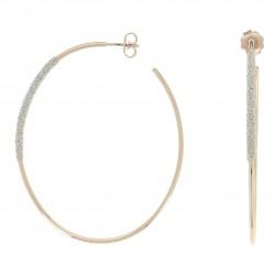 Orecchini Basic in Oro Rosa e Polvere di Diamanti Bianca - Pesavento