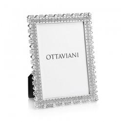 Portafoto in Metallo Argentato con Cristalli - Ottaviani