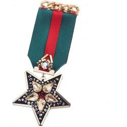 Spilla Bandiera con stella e con strass - Ottaviani