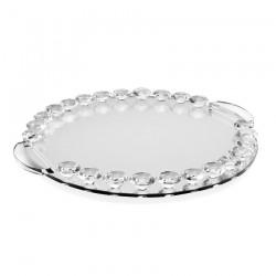 Vassoio in cristallo con strass diam. 30 cm -  Ottaviani