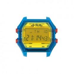 Cassa Uomo Trasparent Blu Case + Yellow Glass - I Am Watch