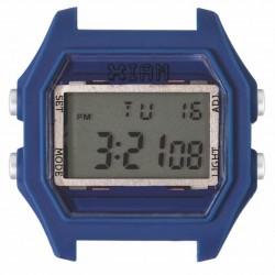 Cassa Large Rubber Blue + Transparent Glass - I Am Watch