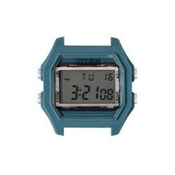 Cassa Largte Rubber Blue+ Transparent Glass - I Am Watch