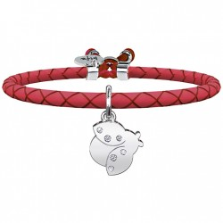 "Bracciale Donna Animal Planet ""Coccinella"" in pelle Rossa - Kidult"