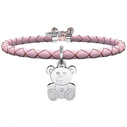 "Bracciale Donna Animal Planet ""Orsetto"" Pelle Rosa - Kidult"
