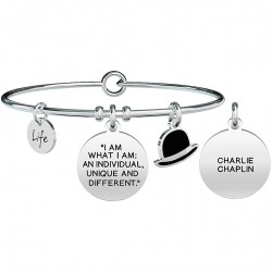 "Bracciale Donna Philosophy I Am What I Am:An Individualo, Unique and Different"" Charlie Chaplin - Kidult"