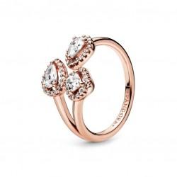 Anello Rosè Forme Geometriche Con Zirconi - Pandora