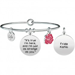 "Bracciale Donna Philosophy ""It's True I'm Here,and I'm Just as Strange as You"" Frida Kahlo - Kidult"