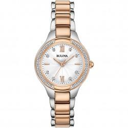 Orologio Donna Solo Tempo Acciaio Bicolore con Diamanti - Bulova