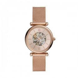 Orologio Donna Carlie Automatico in Acciaio Rosè - Fossil