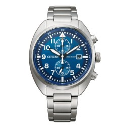 Orologio Uomo Of Collection Metropolitan Crono Ecodrive in Acciaio Quadrante Blu - Citizen