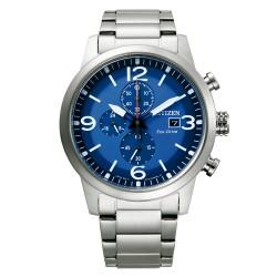 Orologio Uomo Of Collection Urban Crono Ecodrive Acciaio Quadrante Blu - Citizen