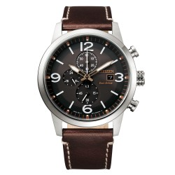 Orologio Uomo Of Collection Urban Crono Ecodrive Pelle Marrone - Citizen