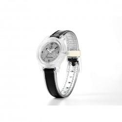 Orologio Donna Solar Nero con Fondo Glitter Argento- Smile Solar