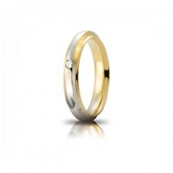 Fede Cassiopea Oro Bicolore con Brill - Unoaerre
