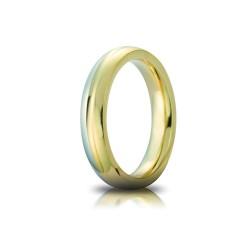 Fede Eclissi Oro Bicolore 4mm - Unoaerre