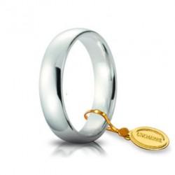 Fede Light 5mm in Oro Bianco - Unoaerre