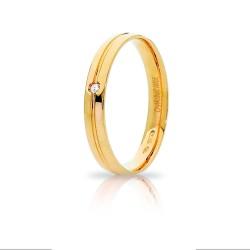 Fede Lyra Oro Giallo con Brill - Unoaerre