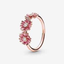 Anello Tris Margherite Rosa Rosè - Pandora