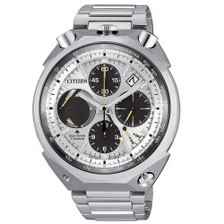 Orologio Uomo Bullhead Edizione Limitata Cronografo in Titanio Quadrante Bianco - Citizen