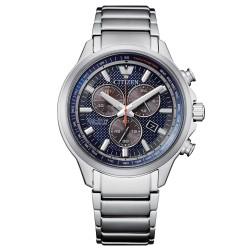 Orologio Uomo Cronografo Ecodrive in Titanio Quadrante Blu - Citizen
