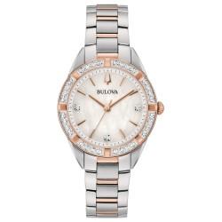 Orologio Donna Solo Tempo in Acciaio Bicolore con Diamanti Quadrante Madreperla- Bulova