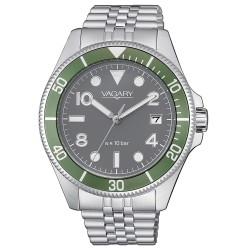 Orologio Uomo Solo Tempo in Acciaio con Quadrante Verde - Vagary