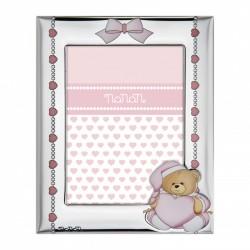 Cornice in Argento Puccio Rosa 130x90mm - Nanan