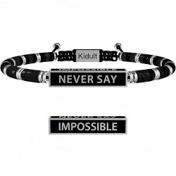 "Bracciale Uomo Philosophy ""Never Say Impossible"" - Kidult"