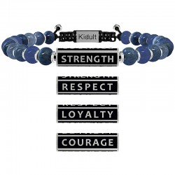 "Bracciale Uomo Philosophy ""Stenght,Respect, Loyalty, Courage"" - Kidult"