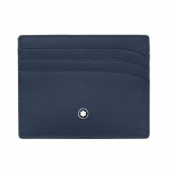 Porta Carte di Credito 6 Scomparti in Pelle Blu - Montblanc