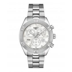 Orologio Donna Pr 100 Sport Chic Cronografo in Acciaio con Diamanti - Tissot