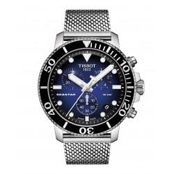 Orologio Uomo Seastar 1000 Cronografo Maglia Milano Quadrante Blu - Tissot