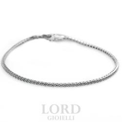 Bracciale Tennis in Oro Bianco con Diamanti - Cierre