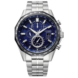 Orologio Uomo Radiocontrollato Crono H800 in Supertitanio Quadrante Blu - Citizen