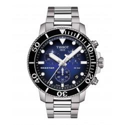 Orologio Uomo Seastar Cronografo Acciaio Quadrante Blu - Tissot