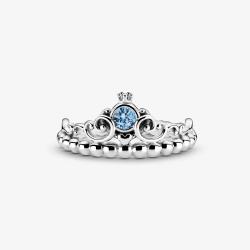 Anello Donna Disney, Cinderella Tiara Blu - Pandora