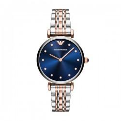 Orologio Donna Solo Tempo in Acciaio Bicolore Quadrante Blu - Emporio Armani