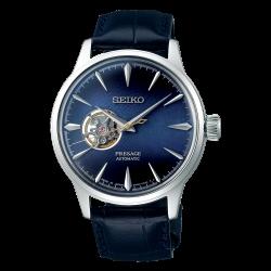 Orologio Uomo Presage Automatico in pelle Blu con Quadrante Blu - Seiko