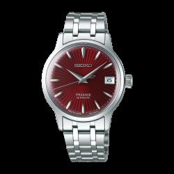 Orologio Donna Presage Automatico in Acciaio Quadrante Rosso- Seiko