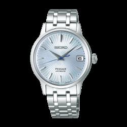 Orologio Donna Presage Automatico in Acciaio Quadrante Azzurro- Seiko