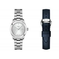 Orologio Donna in Acciaio  e Cinturinio Pelle Blu - Tissot