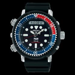 Orologio Uomo Prospex Tuna in Silicone nero con Ghiera Rosso/Blu - Seiko