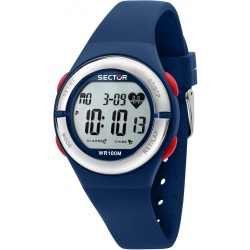 Orologio Donna EX-25 Digitale in Silicone Blu - Sector